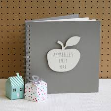 Personalised My First Year Baby Book By Posh Totty Designs Creates