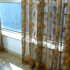 sheer printed curtains embroidery gold leaves pattern sheer curtain for living room red patterned sheer curtains sheer printed curtains