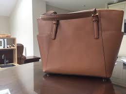 genuine michael kors jet set large top zip saffiano leather tote handbag