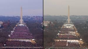 Comparing Donald Trump And Barack Obamas Inaugural Crowd Sizes