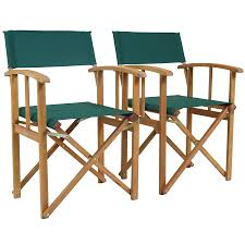 outdoor director chair. Charles Bentley Garden Fsc Pair Of Wooden Foldable Directors Chairs With Green Fabric | Robert Dyas Outdoor Director Chair