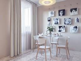 ... Source Irina Wall Art Hanging Picture Photography Modern White Plastic  Wooden Table Dining Chair Carpet Elegant ...