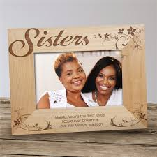 engraved picture frame for sisters personalized sister gifts