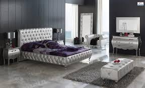 Silver Furniture Bedroom Lorena 623 Bedroom Set Silver By Dupen Furniture Spain Sohomodcom