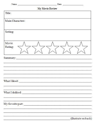 Film Review Template Interesting Movie Review Template For Kids School Days Pinterest Template