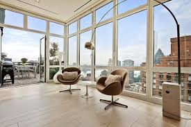 nyc apartment furniture. Arco Floor Lamp And Swan Chairs In The Living Room Of NYC Apartment Nyc Furniture
