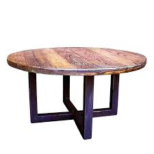 42 round coffee table round coffee table round wood and metal coffee table custom made reclaimed 42 round coffee table