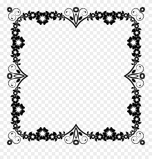 flower frame black and white png clipart borders frames black flower png transpa png