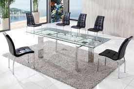 modern glass dining table luxury throughout decor 16