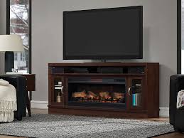 deerfield electric fireplace entertainment center in antique brown cherry 42mms90151 pc84