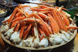 Close Up Alaska King Crab Legs On Ice ...