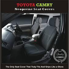 seat covers front pair suitable for toyota camry series xv30 xv40 xv50 sedan premium neoprene automotive grade 100 waterproof