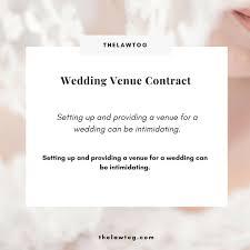 Venue Contract Template Wedding Venue Contract