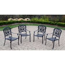 aluminum stackable patio chairs. Oakland Living Hampton Cast Aluminum Stackable Patio Dining Chair (4 Pack) Aluminum Stackable Patio Chairs T