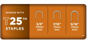Arrow Staple Size Chart Arrow Fastener T25 Staple Gun And Wire Tacker