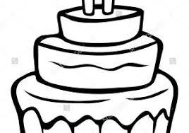 Cake Cartoon Drawing How To Draw A Birthday Cake Youtube Kids
