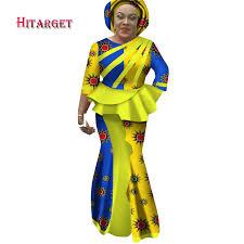 <b>Hitarget 2019 New African</b> Splice Long Dresses for Women Dashiki ...
