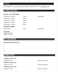 Fill In The Blank Resume Templates Extraordinary Resume Fill In The Blanks Free Template Combined With Resume Format