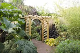 large ultima pergola arch forest garden