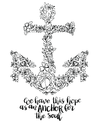 the truth about coloring pages of anchors hope is an anchor for page at
