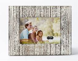 small white distressed wood frame