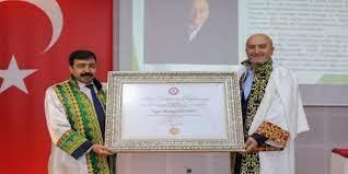 Mehir Vakfı Başkanı Mustafa Özdemir'e fahri doktora unvanı verildi
