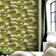 10M Roll Of Army Camouflage Camo Wallpaper Kids Bedroom Wallpaper Home  Decor New