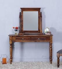mirror finish furniture. Harleston Solid Wood Dressing Table With Mirror In Provincial Teak Finish By Amberville Furniture