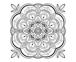 Small Picture Printable Adult Coloring Book Page PDF Mandala Coloring Book Page