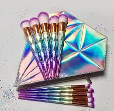 description 10 piece colourful unicorn makeup brush