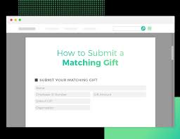 matching gift database paper matching gift forms on double the donation