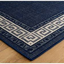 oriental weavers greek key flatweave blue runners