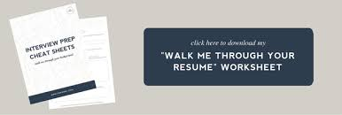 Answer This Interview Question Walk Me Through Your Resume The Beauteous Walk Me Through Your Resume