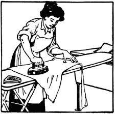 ironing clothes clipart. Modren Clothes Woman Ironing Clothes Inside Clipart