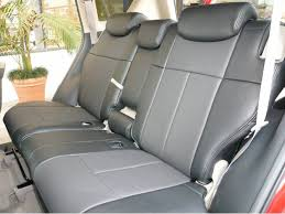 clazzio second row dark grey leather seat covers