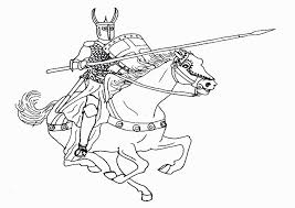 animated coloring pages knight image 0018