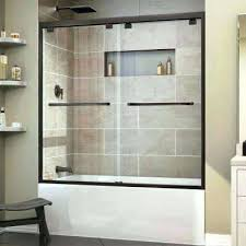 frameless sliding shower doors for tubs bargain frameless sliding shower