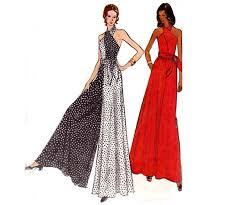 Jumpsuit Pattern Vogue Best 48s Halter Maxi Dress Pantdress Jumpsuit Pattern Vogue 48