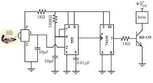 hobby in electronics remote control regulated ceiling fan circuit the relay is connected through a fan and a regulator it gets connected to live terminal of ac mains via normally opened n o contact when the relay
