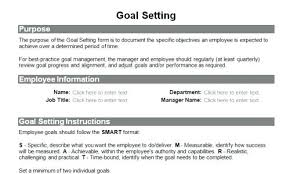 Performance Objectives Examples Beauteous Employee Goals And Objectives Examples Royaleducation