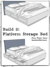 awesome diy king storage bed and free plans to build a cal king platform storage bed