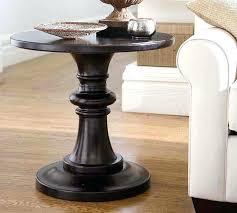 black pedestal side table black round pedestal end table