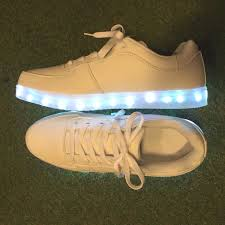 glow glow 7 color sneakers white light up sneakers lighting sneaker synthetic leather usb with charger in me por import korea made shoes shoes