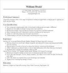 Resume Templates For Doctors Psychologist Resume Template Free ...
