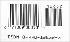 most m market paperbacks use a two part 17 digit barcode on the back cover of the book