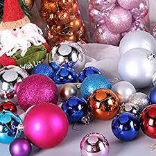 Enjoyyouselves 6cm Weihnachtskugeln 24 Stücke Plastik Christbaumkugeln Christbaumschmuck Aufhänger Christbaumkugeln Für Den Weihnachtsbaum
