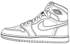 Air Jordan Shoes Coloring Page To Print Brand Product Coloring