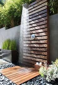wooden pallet made outdoor shower