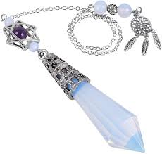 Nupuyai Healing <b>Crystal</b> Point Pendulum for Reiki Dowsing ...