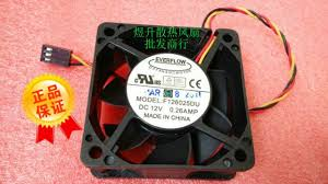 aliexpress com buy everflow f126025du 6025 dc12v 0 26amp 60 60 everflow f126025du 6025 dc12v 0 26amp 60 60 25mm 6cm 3 wire cooling fan